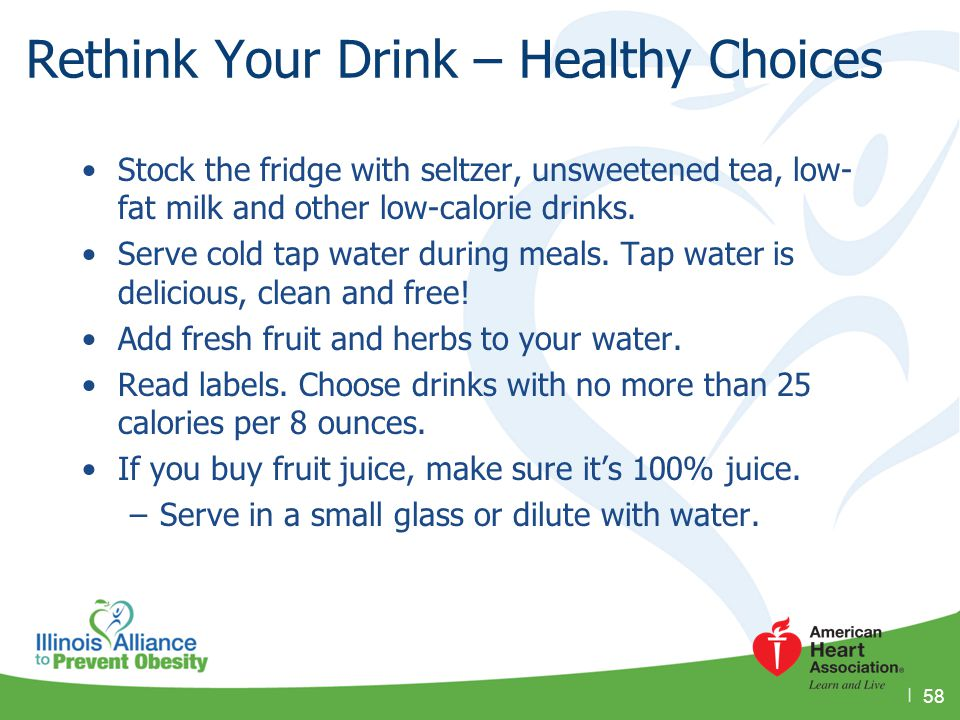 Rethink Your Drink – Healthy Choices
