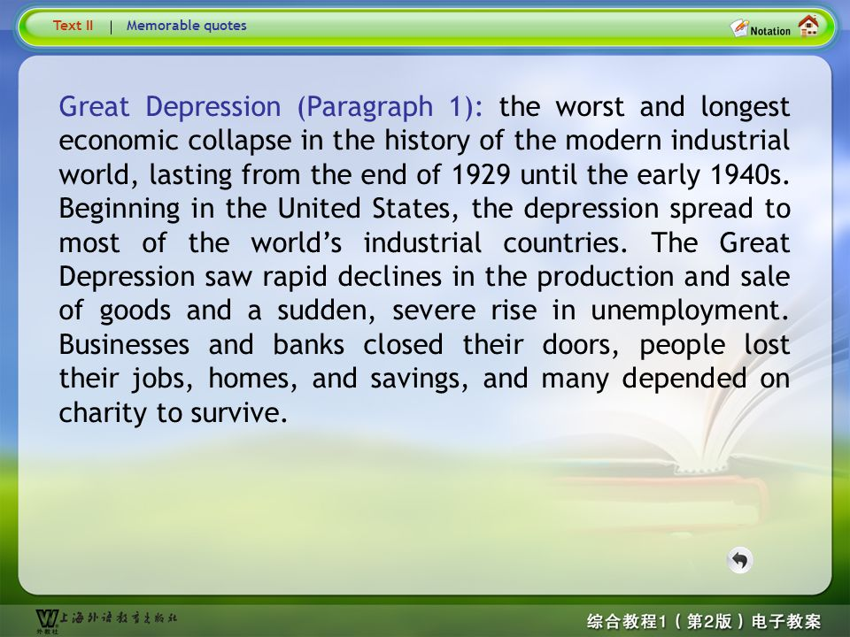 Text1 –Great Depression …