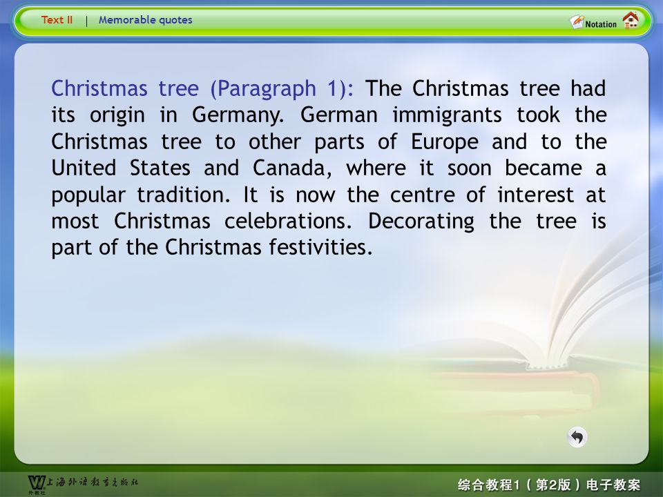 Text2–Christmas tree… Text II. Memorable quotes.