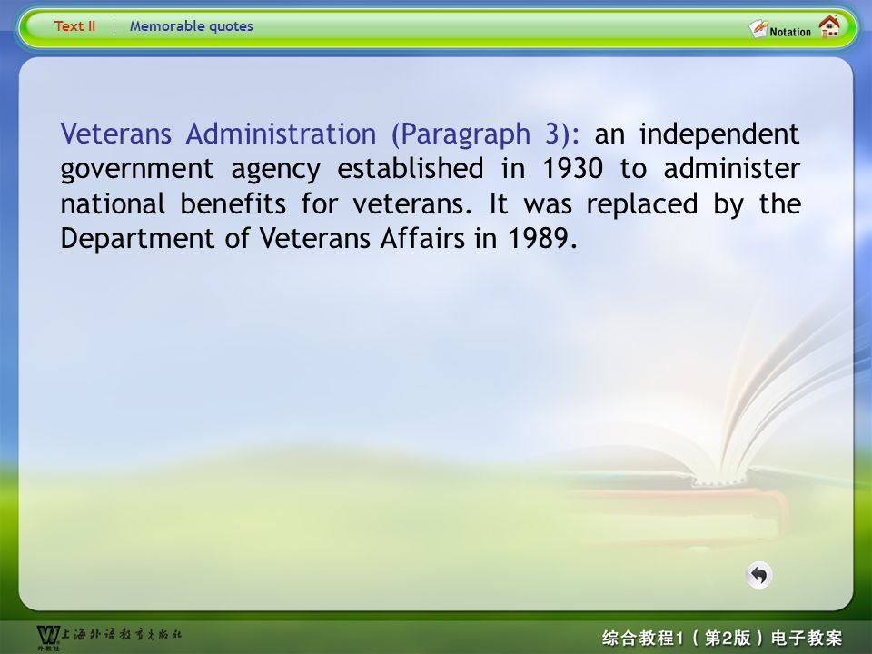 Text3- Veterans Administration