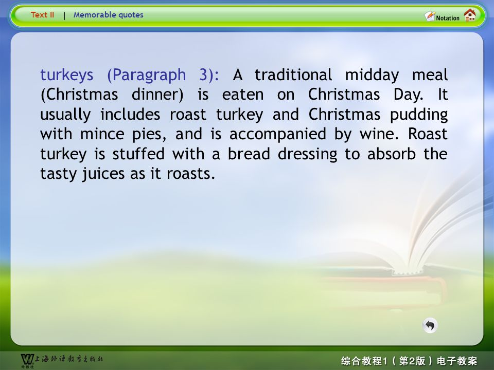 Text4-turkeys Text II. Memorable quotes.