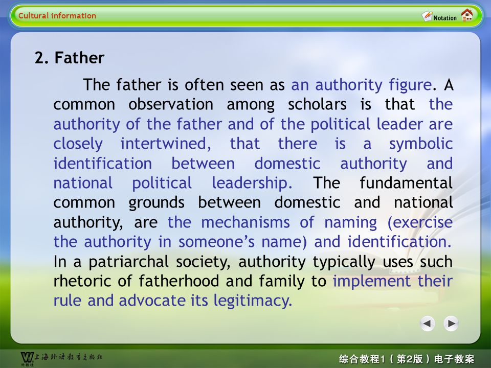 Cultural information 2.1 2. Father