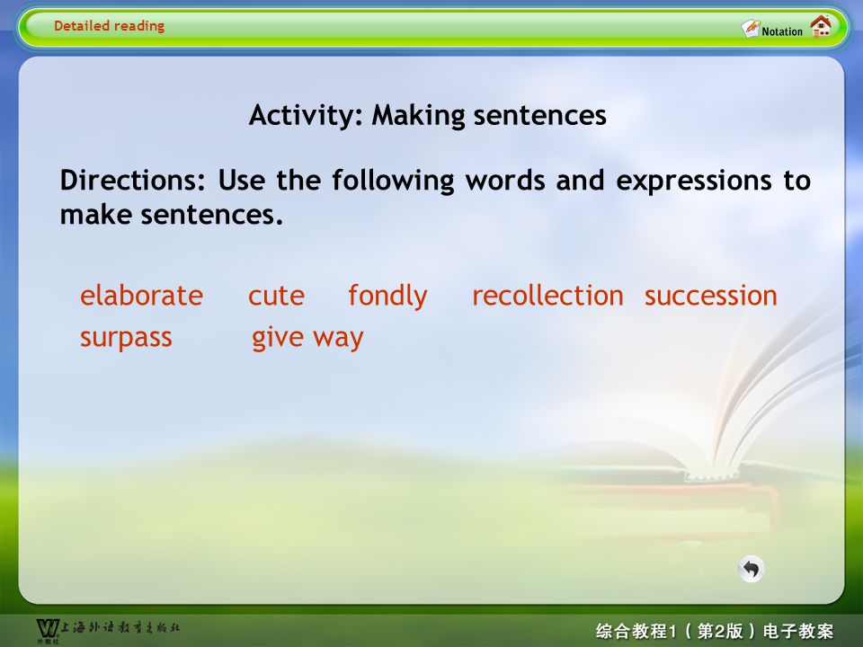 Detailed reading-Activity