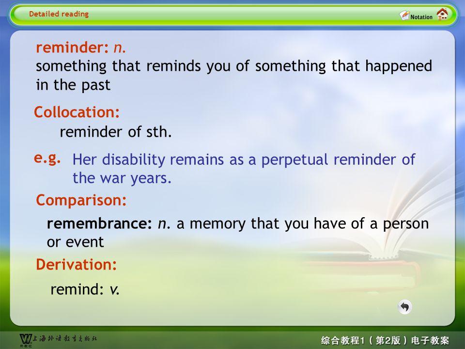 Detailed reading-reminder