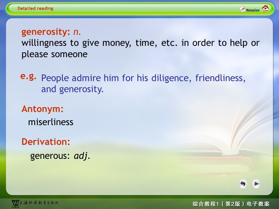 Detailed reading-generosity 1