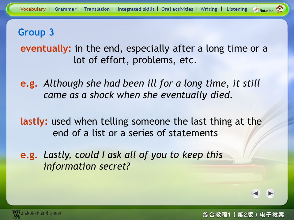 Consolidation Activities- Word / Phrase comparison3.1