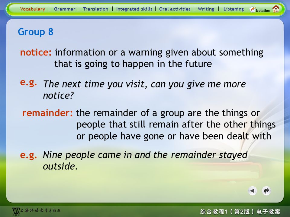 Consolidation Activities- Word / Phrase comparison8.2