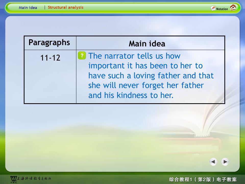 Structural analysis 2 Main idea. Structural analysis. Paragraphs. Main idea.