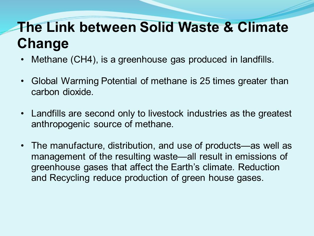 The Link between Solid Waste & Climate Change