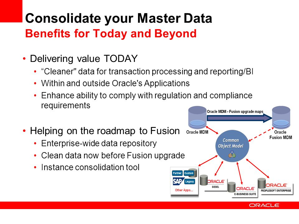 Consolidate your Master Data Benefits for Today and Beyond