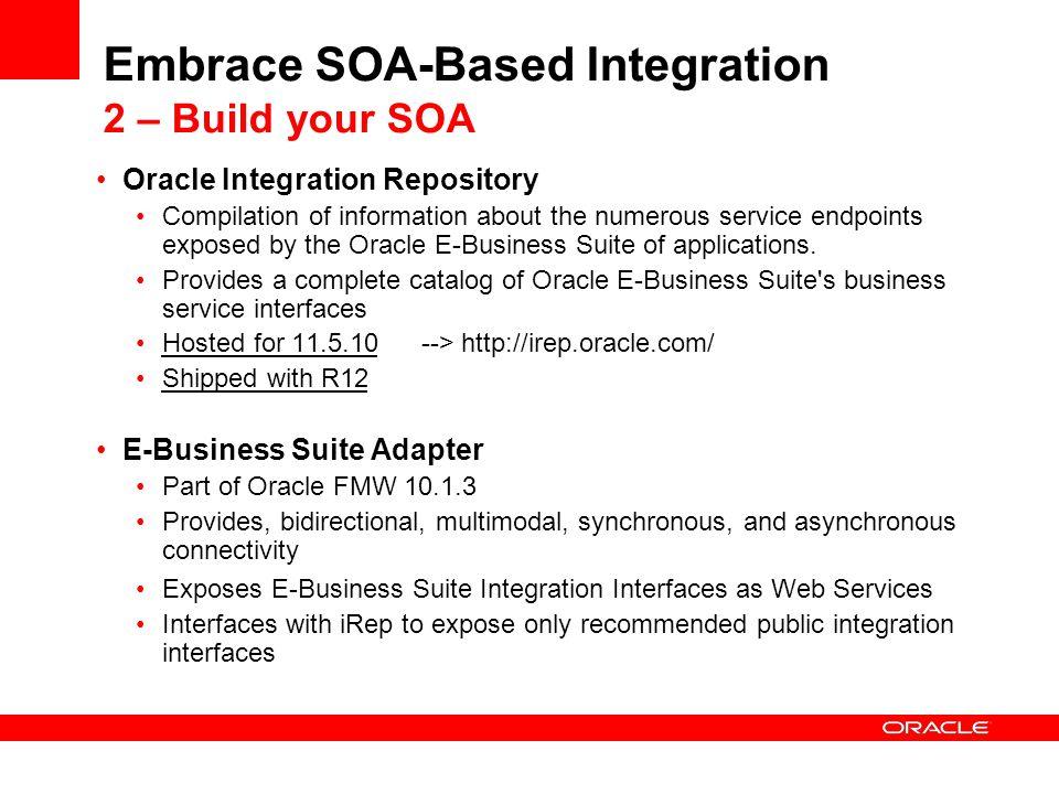 Embrace SOA-Based Integration 2 – Build your SOA