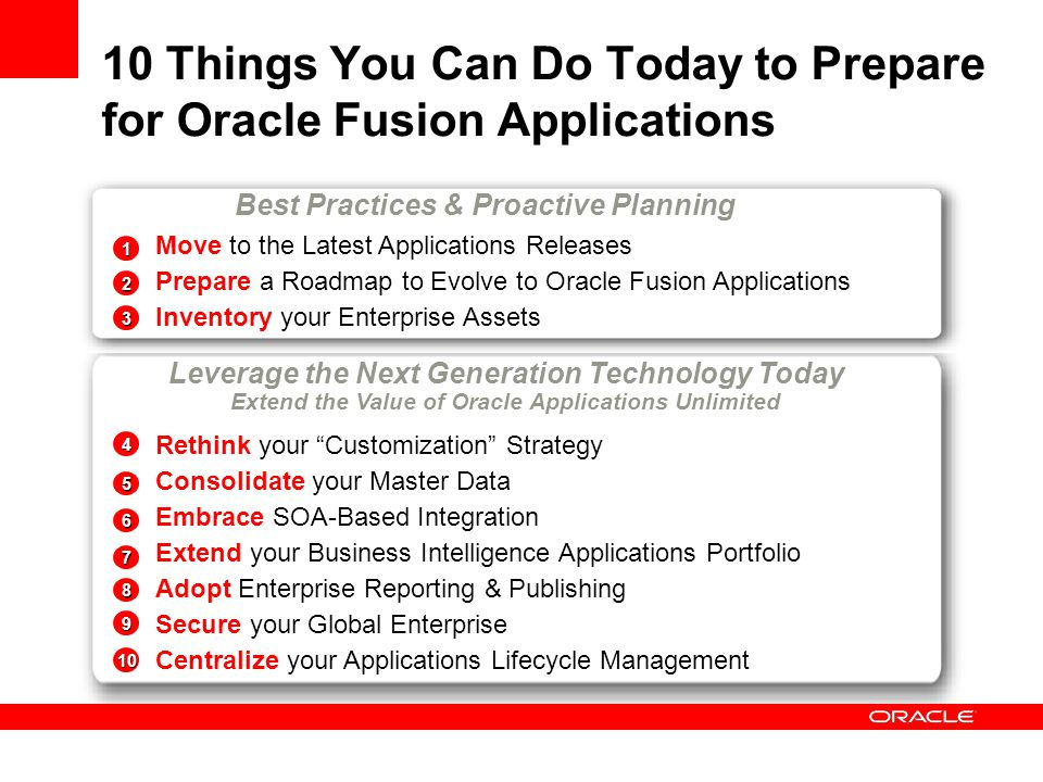 10 Things You Can Do Today to Prepare for Oracle Fusion Applications