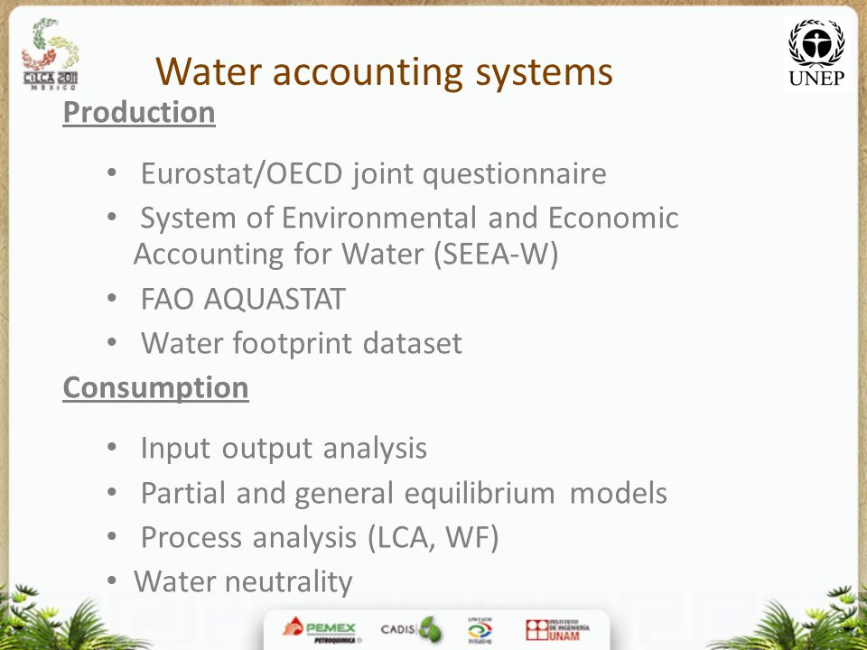Water accounting systems