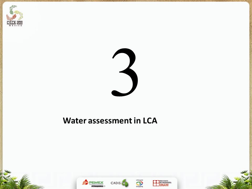 3 Water assessment in LCA