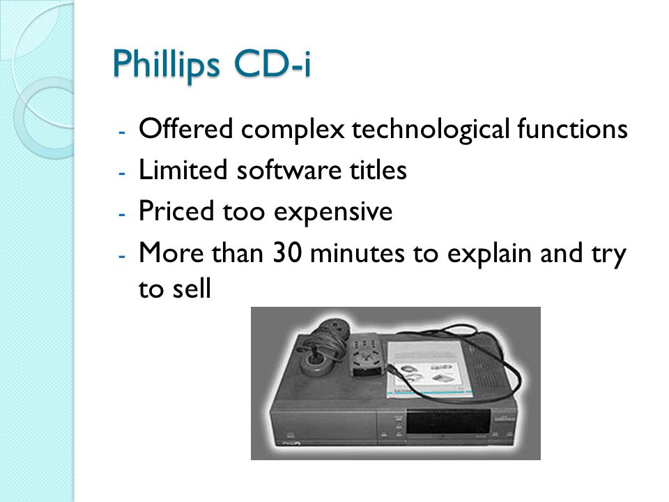 Phillips CD-i Offered complex technological functions