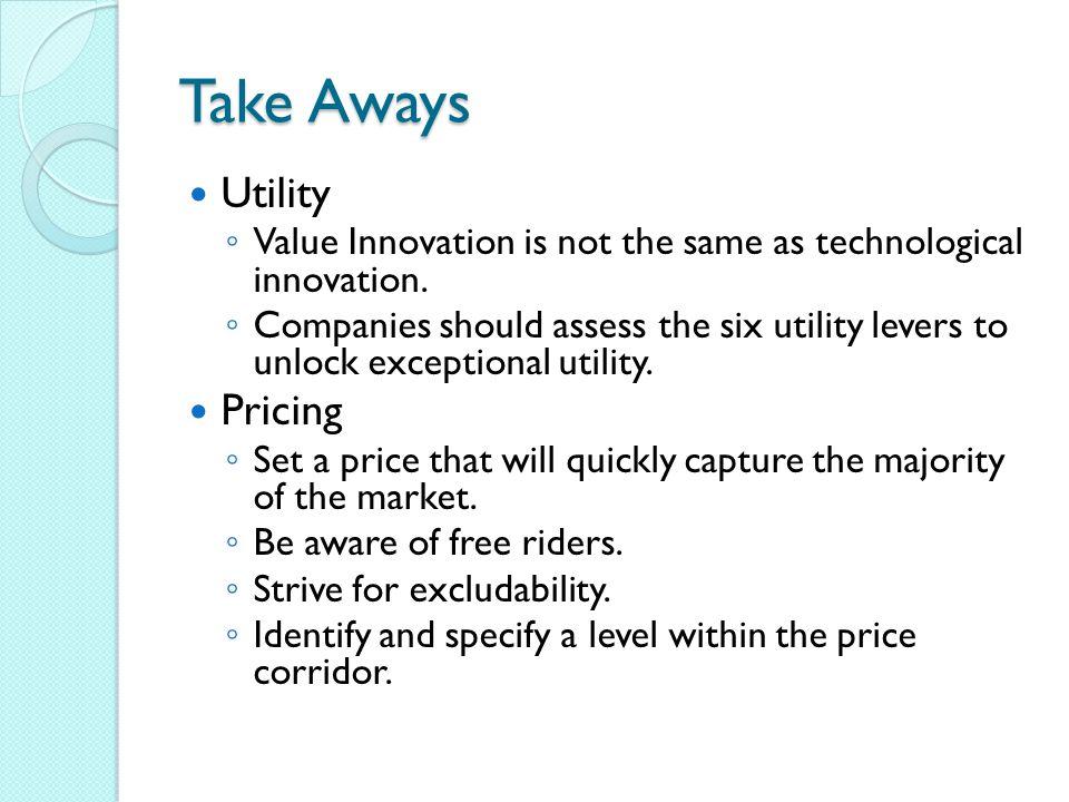Take Aways Utility Pricing