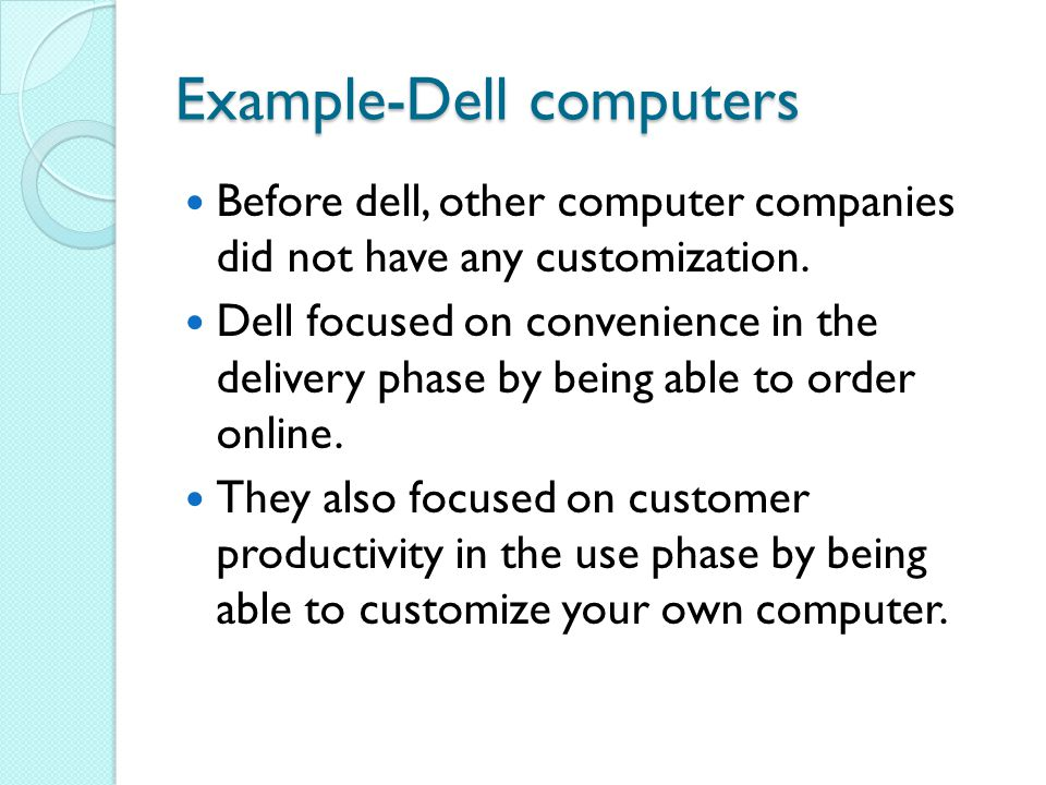 Example-Dell computers