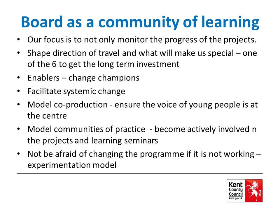 Board as a community of learning