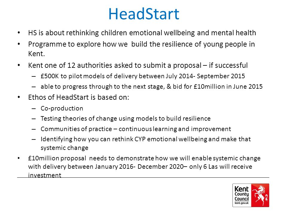 HeadStart HS is about rethinking children emotional wellbeing and mental health.