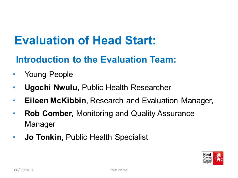 Introduction to the Evaluation Team: