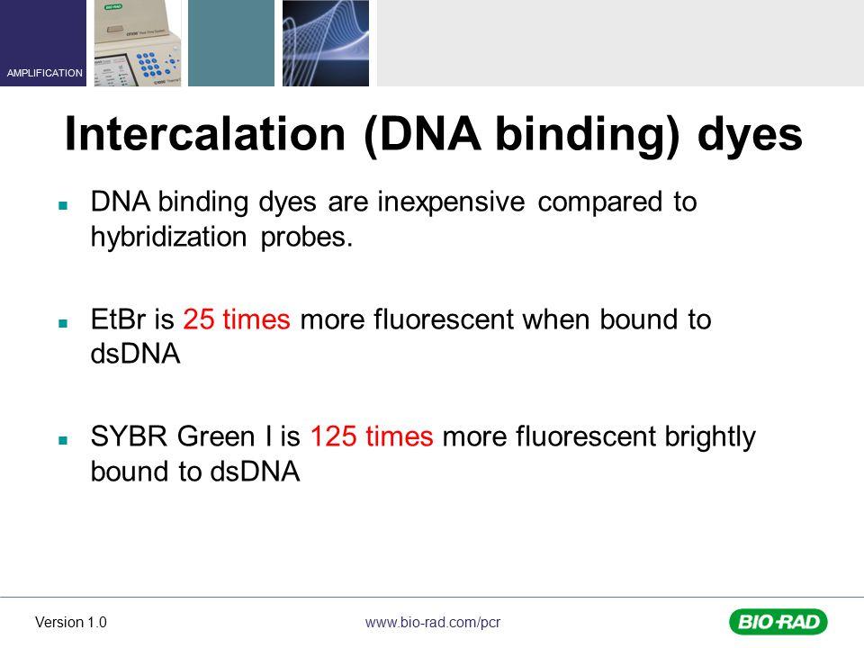 Intercalation (DNA binding) dyes