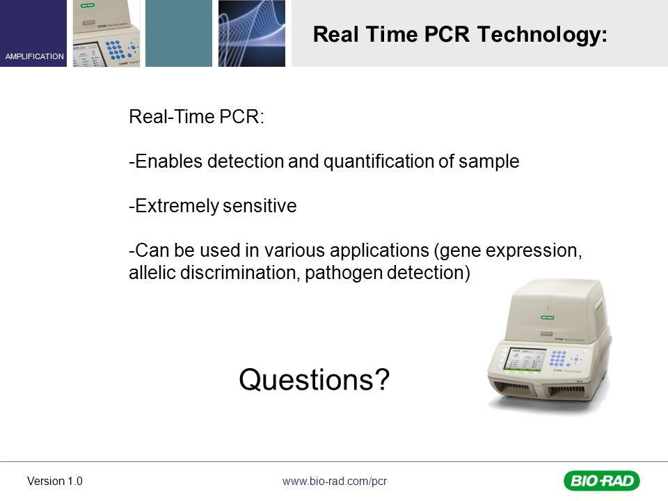 Real Time PCR Technology: