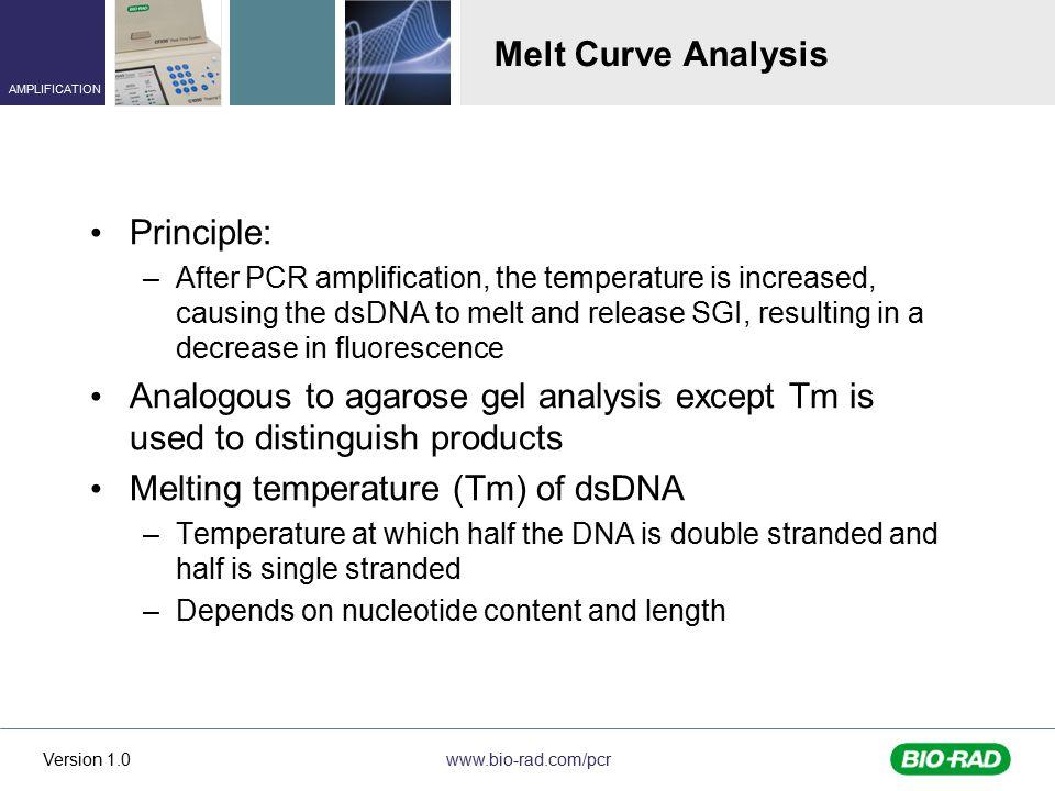 Melting temperature (Tm) of dsDNA