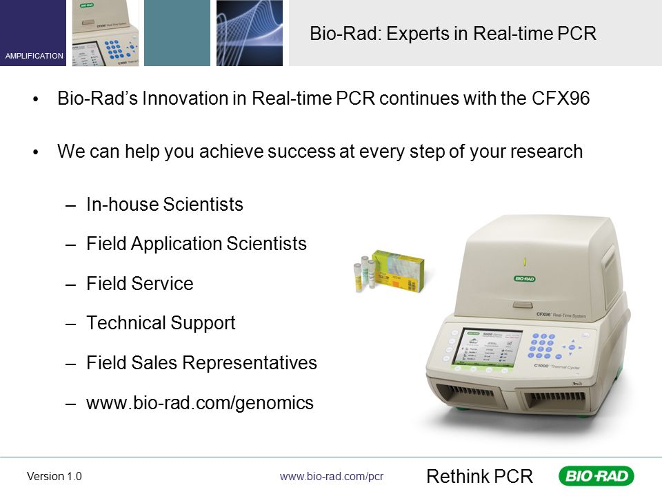 Bio-Rad: Experts in Real-time PCR