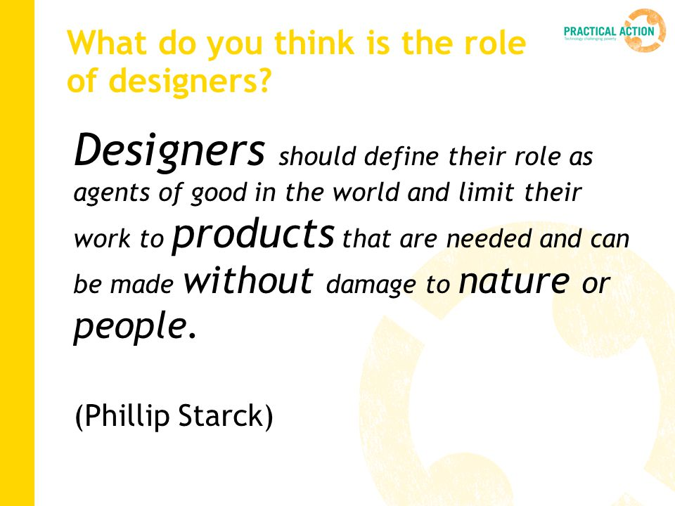 What do you think is the role of designers