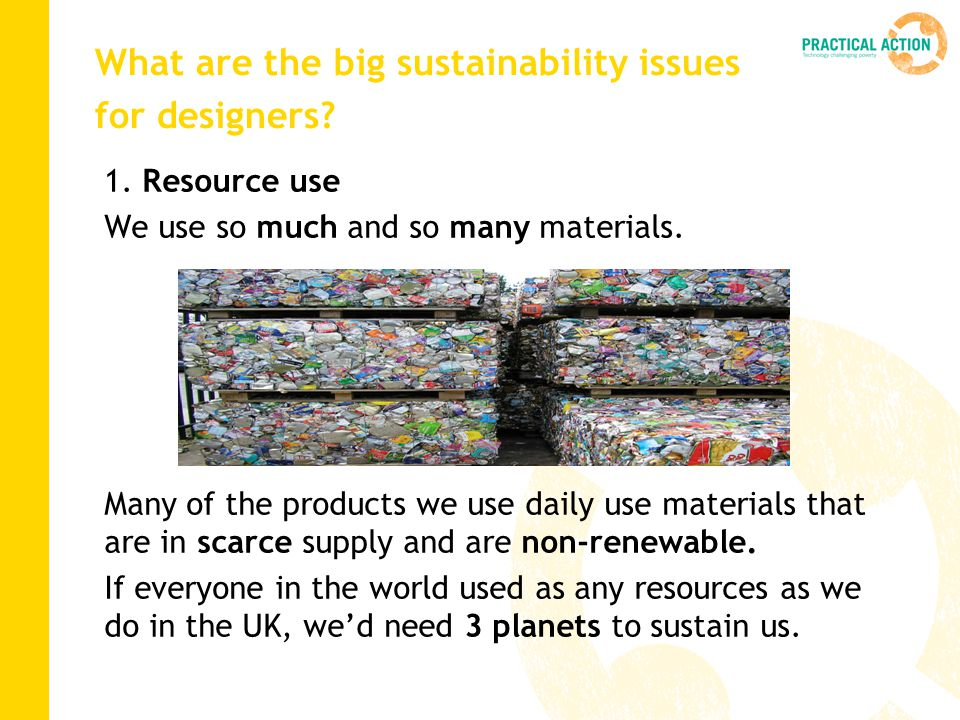 What are the big sustainability issues for designers