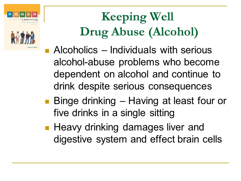 Keeping Well Drug Abuse (Alcohol)