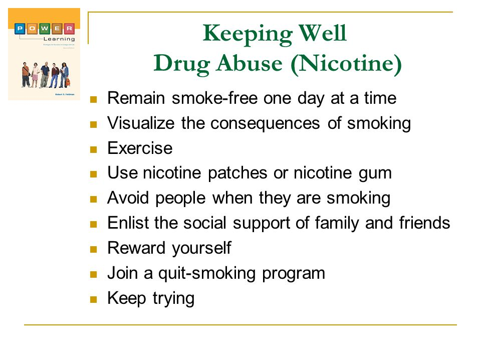 Keeping Well Drug Abuse (Nicotine)