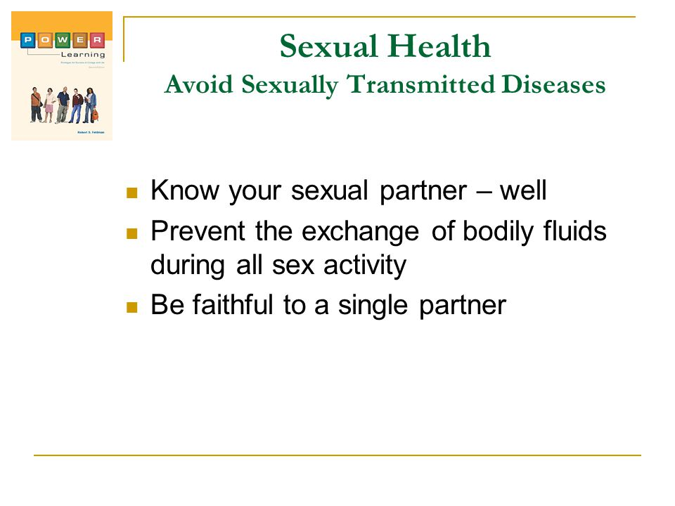 Sexual Health Avoid Sexually Transmitted Diseases