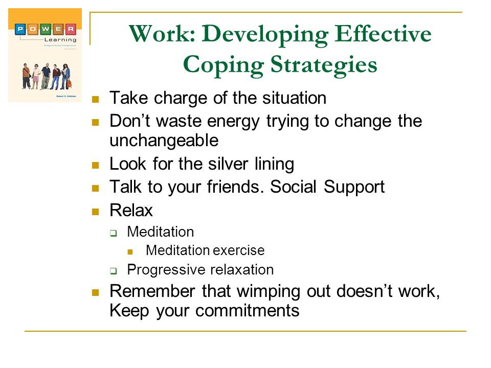 Work: Developing Effective Coping Strategies