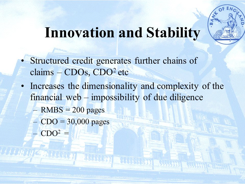 Innovation and Stability