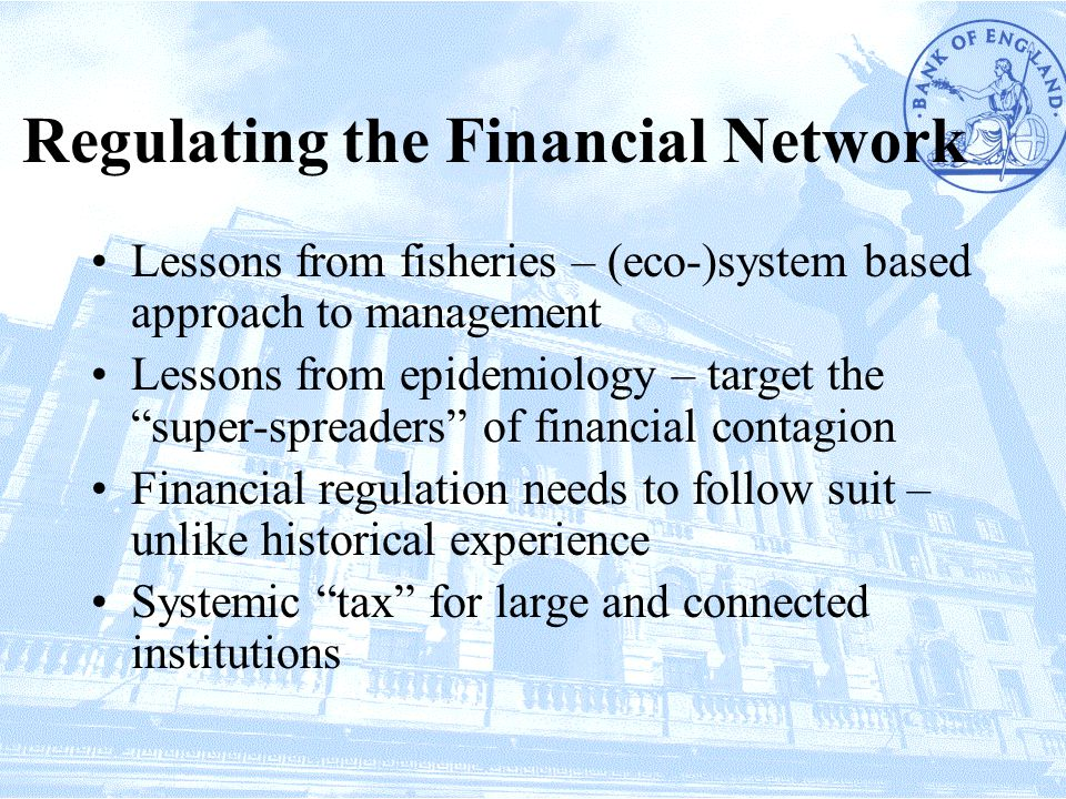 Regulating the Financial Network