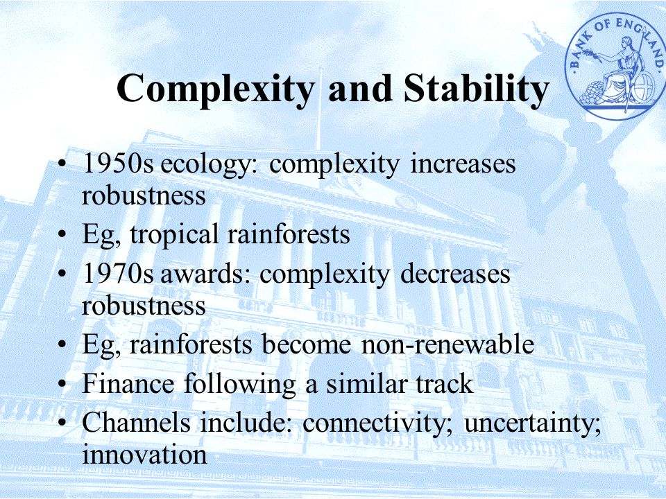 Complexity and Stability