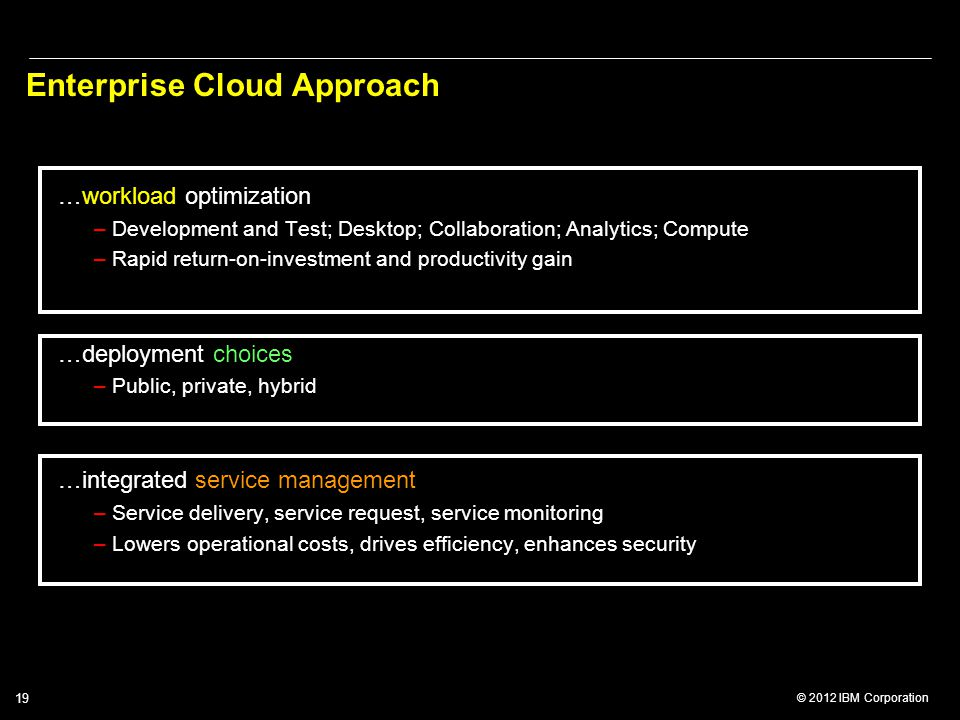 Enterprise Cloud Approach