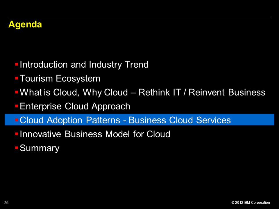 Agenda Introduction and Industry Trend. Tourism Ecosystem. What is Cloud, Why Cloud – Rethink IT / Reinvent Business.