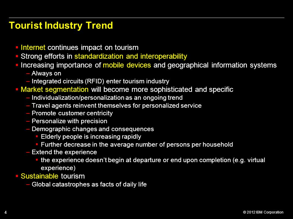 Tourist Industry Trend