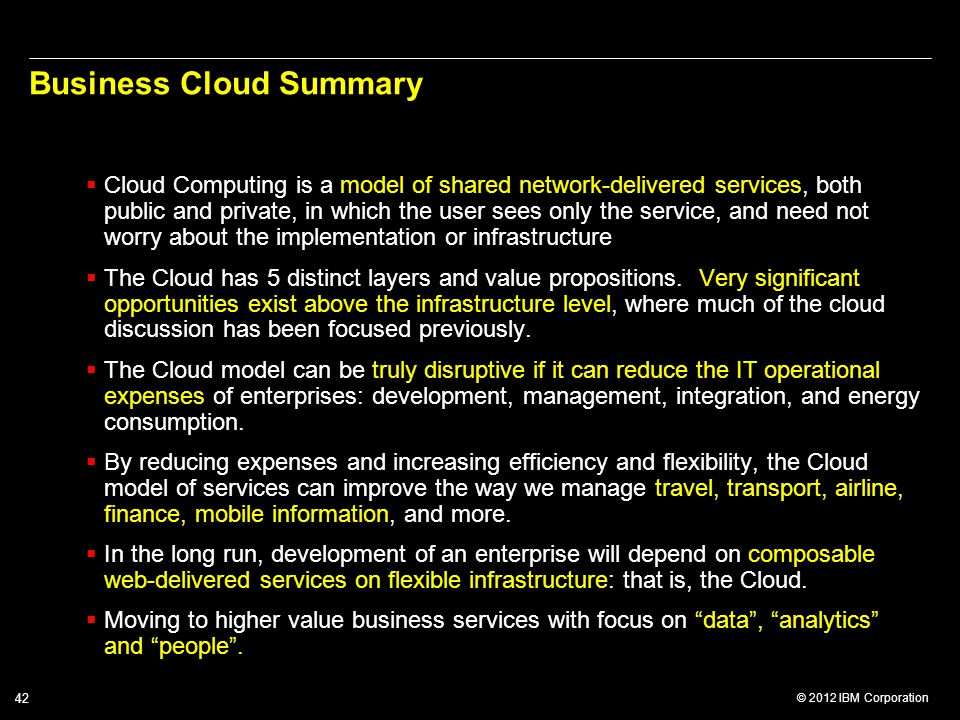 Business Cloud Summary