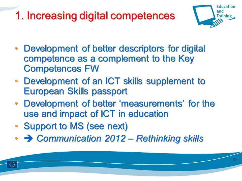 1. Increasing digital competences