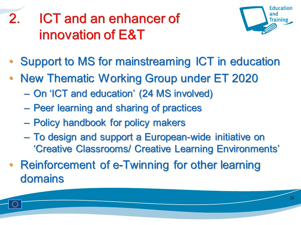 2. ICT and an enhancer of innovation of E&T