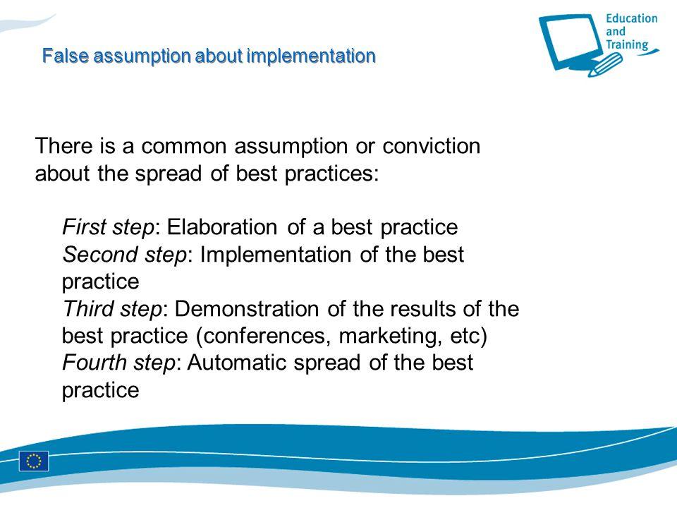 False assumption about implementation