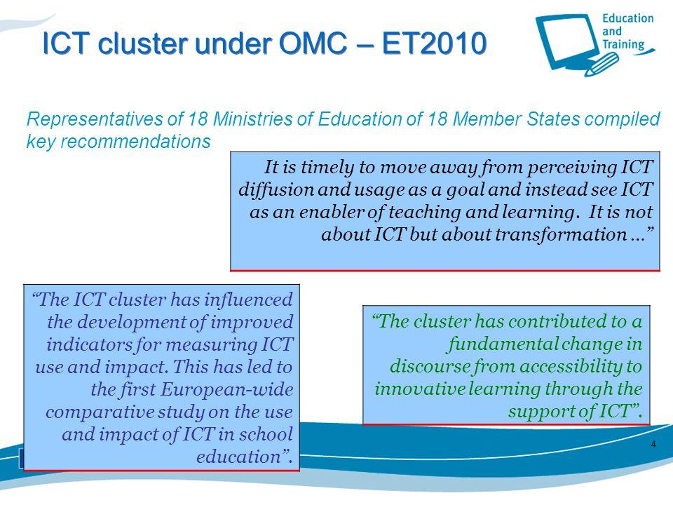 ICT cluster under OMC – ET2010
