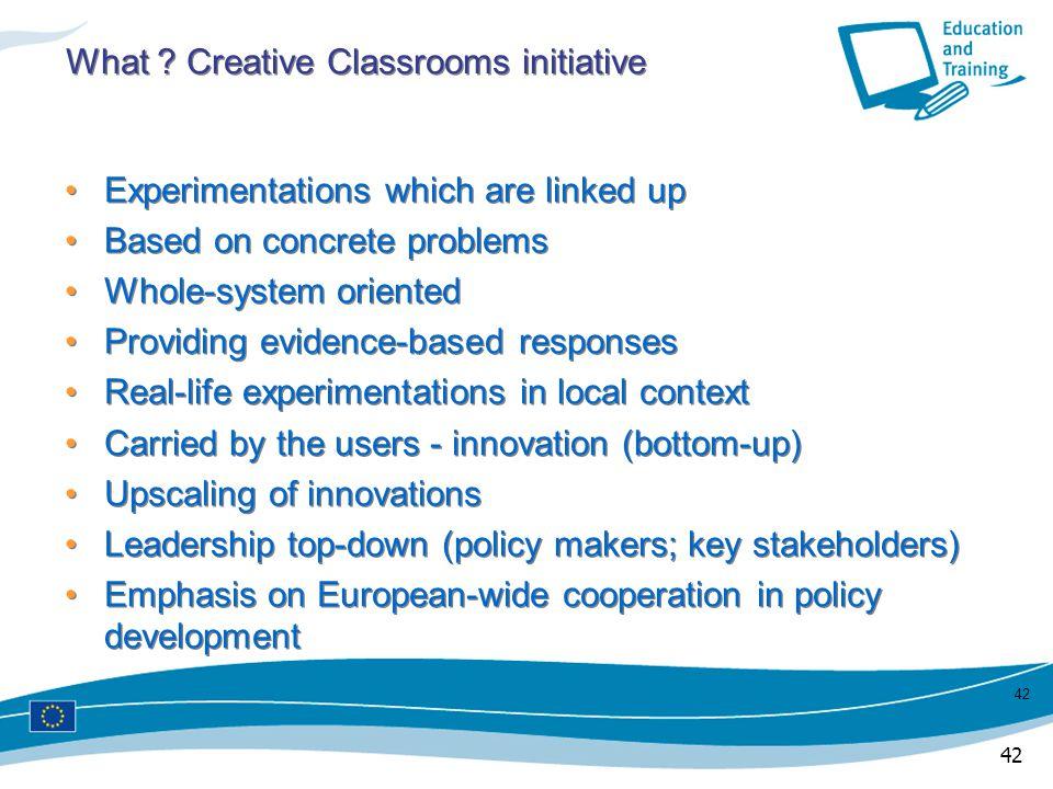 What Creative Classrooms initiative