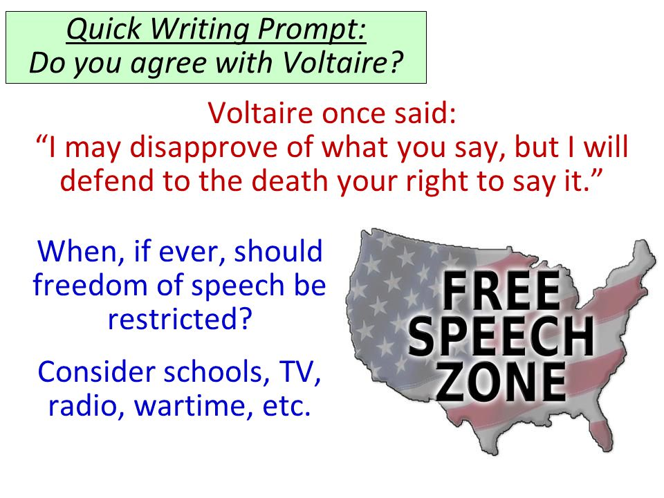 Quick Writing Prompt: Do you agree with Voltaire
