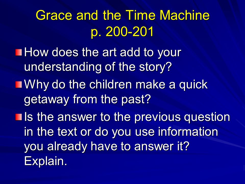 Grace and the Time Machine p. 200-201
