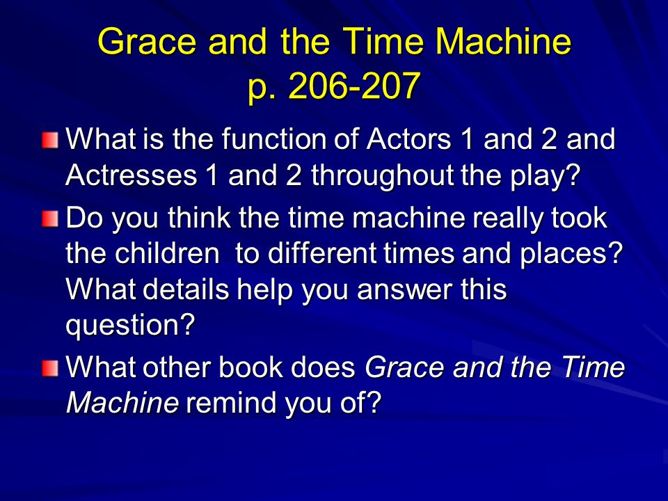 Grace and the Time Machine p. 206-207