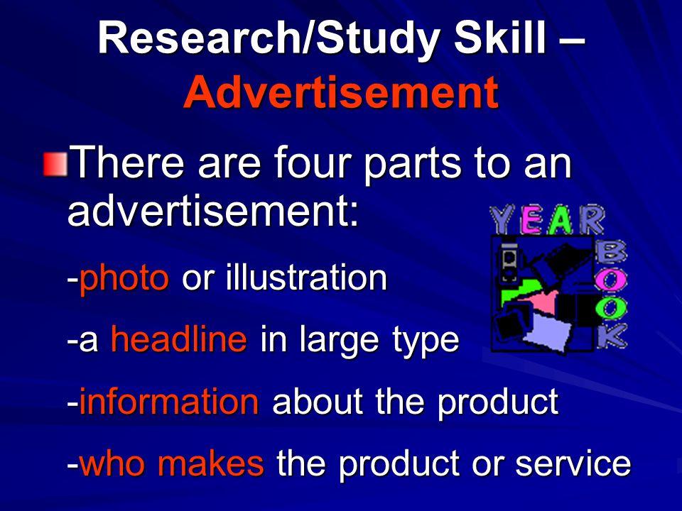 Research/Study Skill – Advertisement